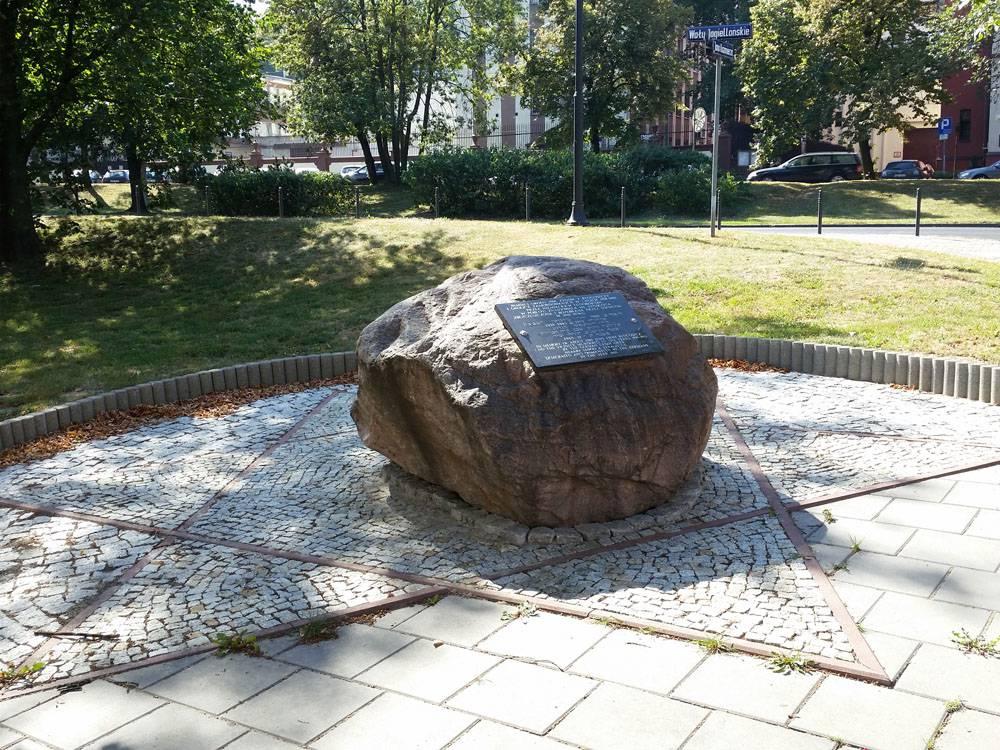 Kamień upamiętniający bydgoskich Żydów