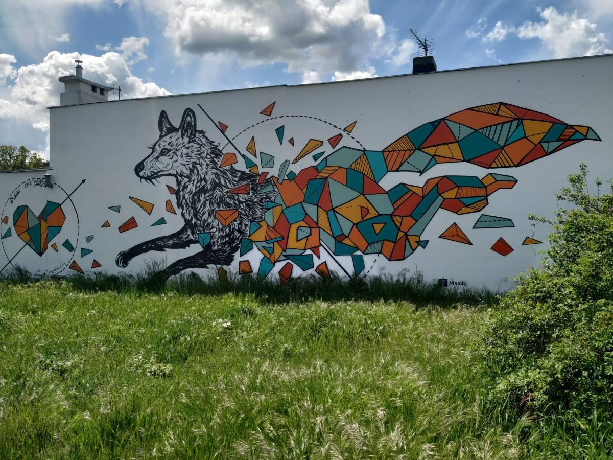 Mural przy ul. Filtrowej