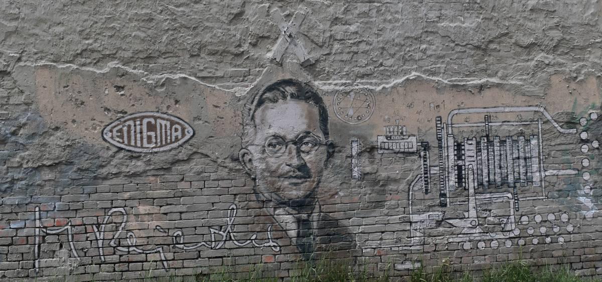 Mural of Marian Rejewski