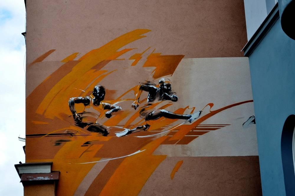 """Mural """"Sportowcy"""""""