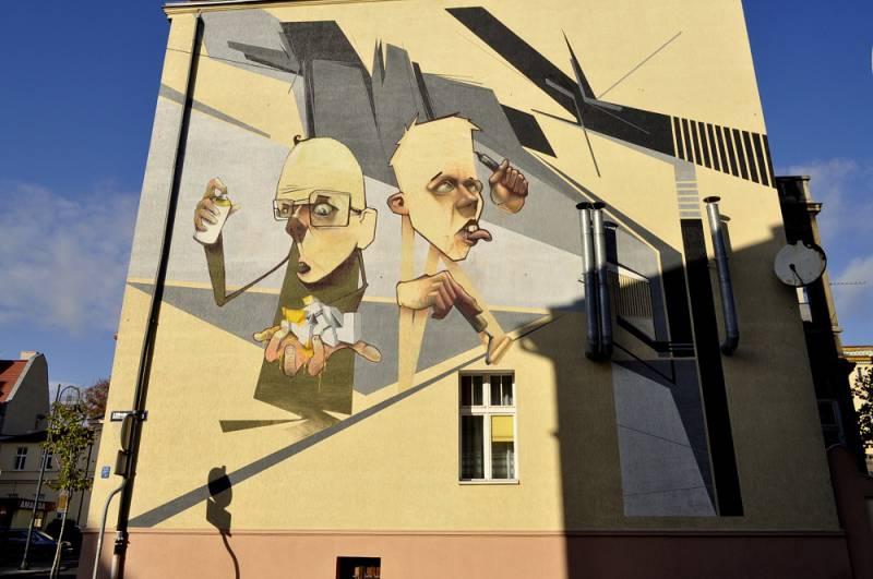 """Mural """" Samookreślenie"""""""