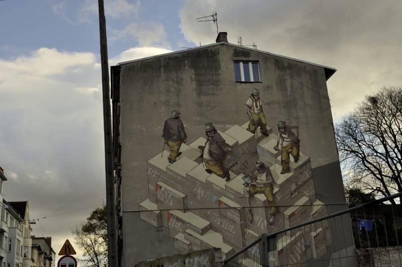 Mural przy ulicy Obrońców Bydgoszczy 11