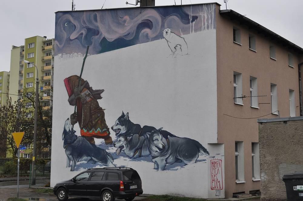 """Winter story"" mural"