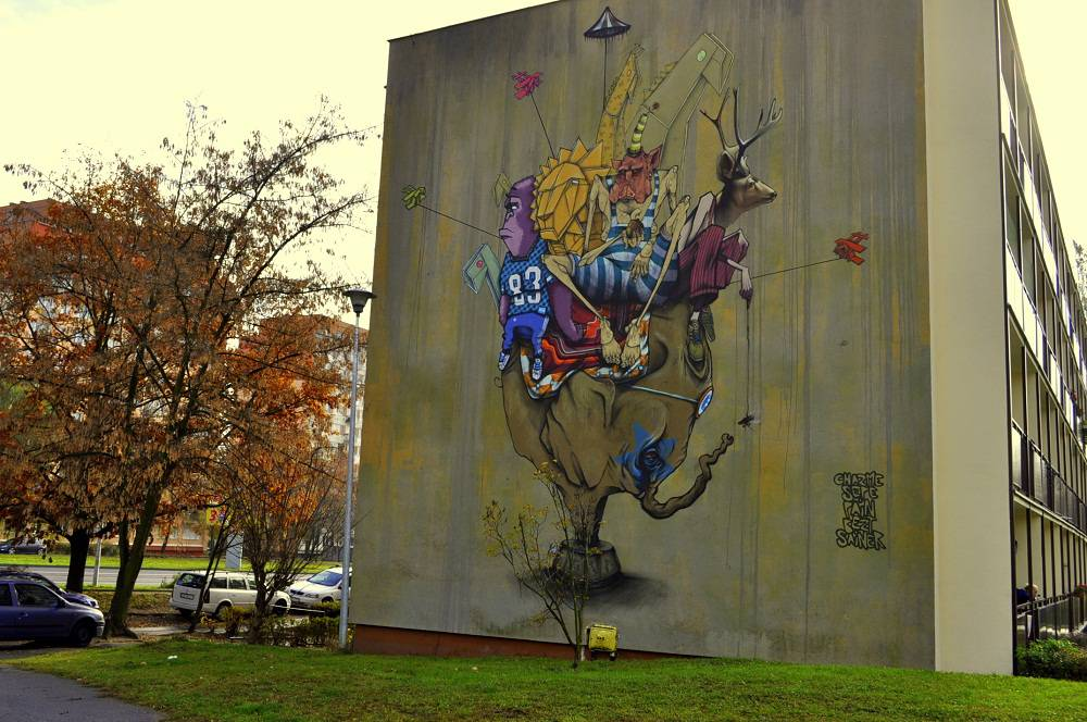 "Mural ""Cyrkulacje"""