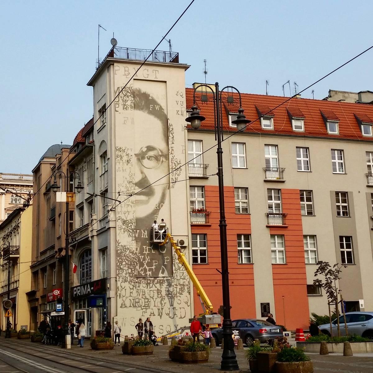 Mural poświęcony Marianowi Rejewskiemu