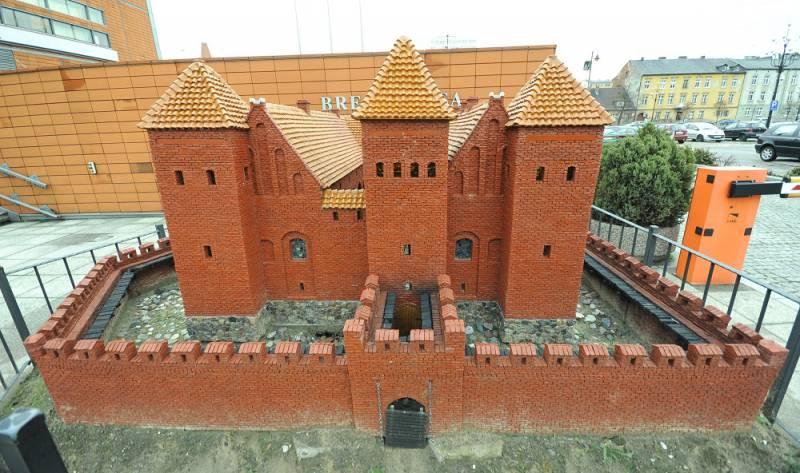 Mockup of Bydgoszcz castle