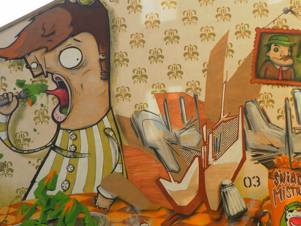 """Champion's breakfast"" mural"