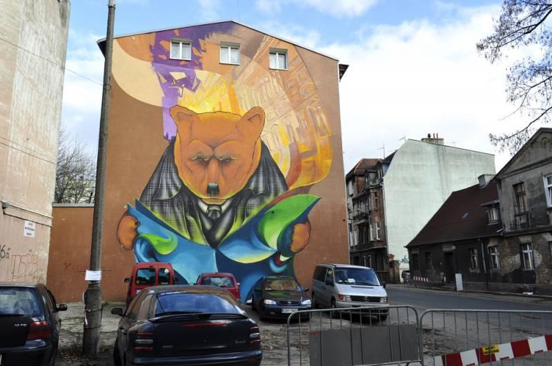 Mural near by 24 Bocianowo Street