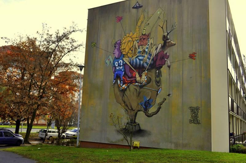 "Mural ""Pozytywka"""