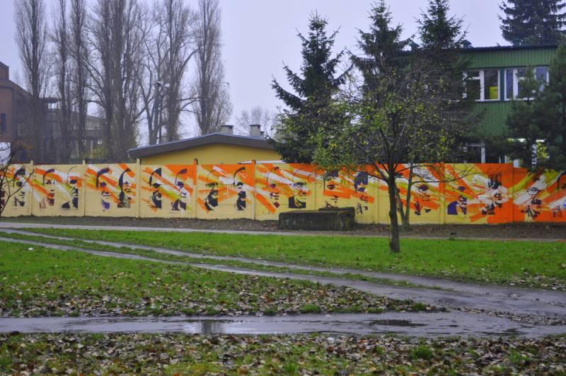 Mural near by 422 Fordońska Street