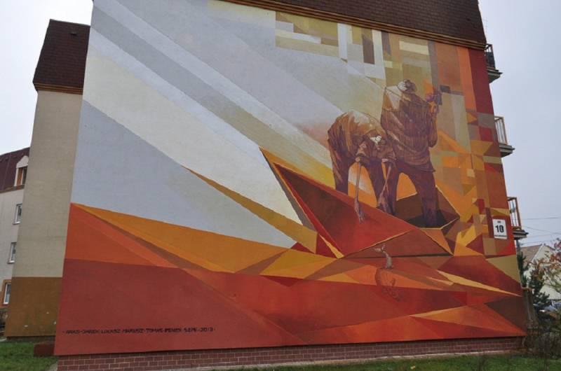 """Mural """"Płynąć do wolności"""""""