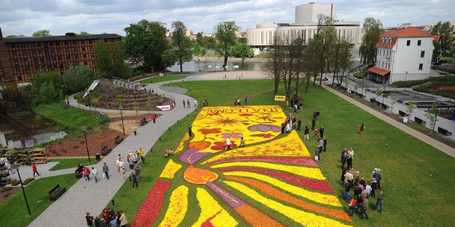 Dywany Kwiatowe Na Wyspie Młyńskiej Bydgoszcz Turystyka