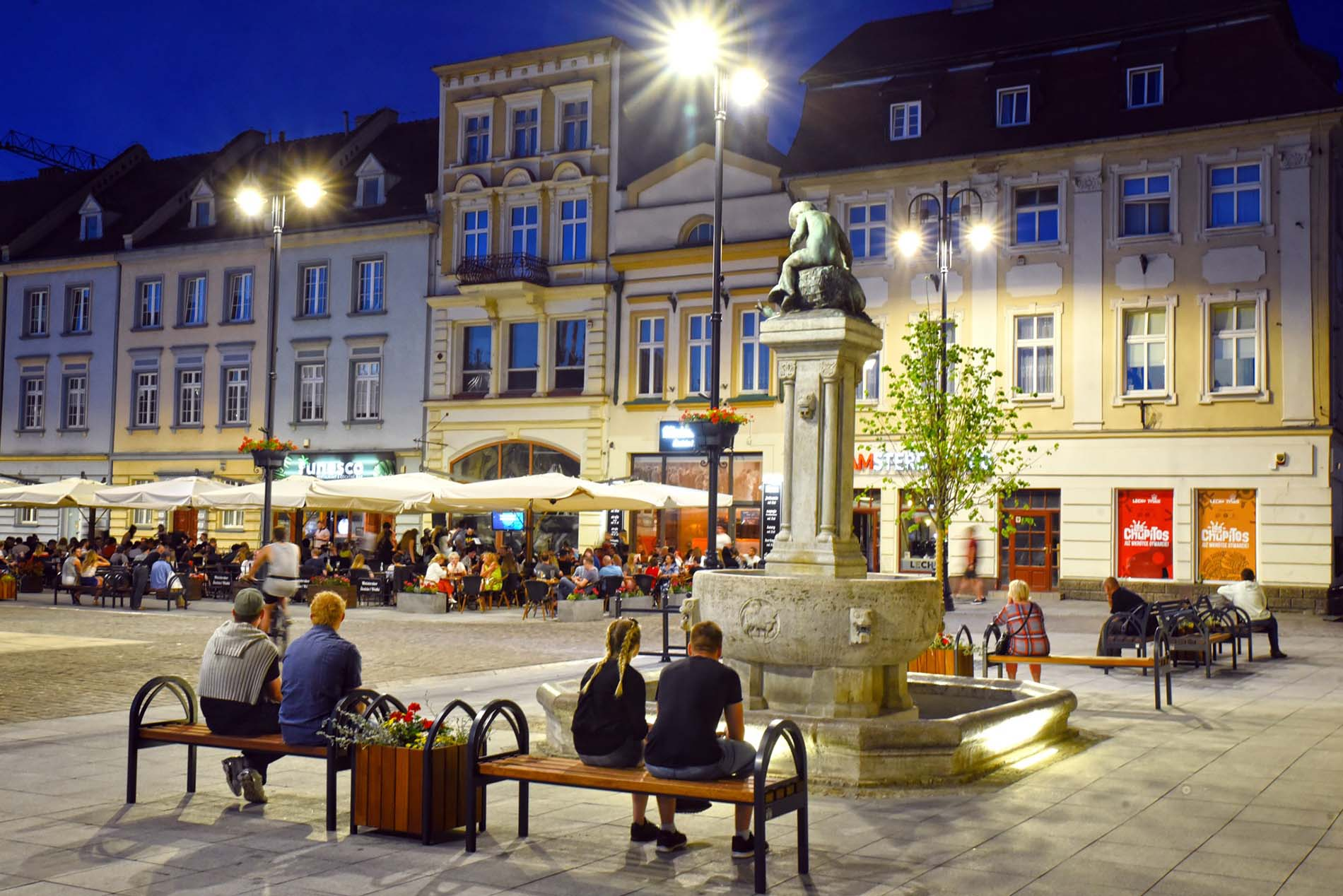 Bydgoszcz | Old market square | Fountain